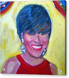 First Lady In Red Acrylic Print by Patricia Taylor