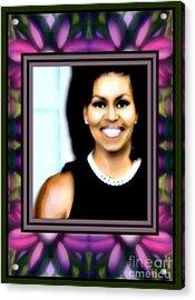 First Lady Michele Acrylic Print by Wbk