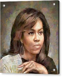 First Lady Michelle Obama Acrylic Print