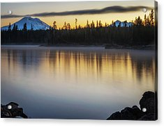 Acrylic Print featuring the photograph First Light At Lava Lake by Cat Connor