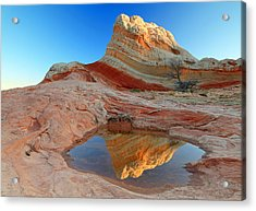 First Light At White Pocket. Acrylic Print