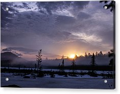 First Light At Wolf Pond Acrylic Print