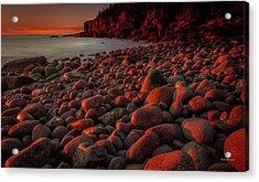 First Light On A Maine Coast Acrylic Print by Tim Bryan