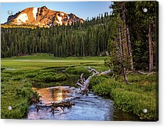 First Light On Lassen From Upper Meadow Acrylic Print