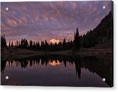 First Light On Mount Rainier Acrylic Print