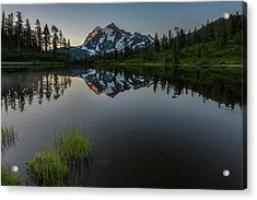 First Light On Picture Lake Acrylic Print