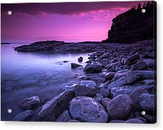 First Light On The Rocks At Indian Head Cove Acrylic Print by Cale Best