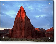 Acrylic Print featuring the photograph First Light On The Temple Of The Sun. by Johnny Adolphson