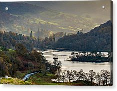 First Light Over Rydal Water In The Lake District Acrylic Print
