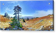 Acrylic Print featuring the photograph First Light Snow by George Randy Bass