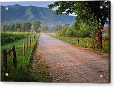 First Light - Sparks Lane At Cades Cove Tennessee Acrylic Print