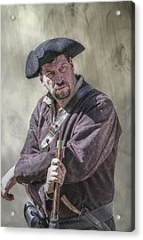 First Line Of Defense The Frontiersman Acrylic Print by Randy Steele