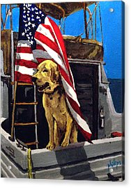 Acrylic Print featuring the painting First Mate by Jim Phillips