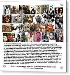First Native Americans Were Indigo Twa Black Afrikans Acrylic Print