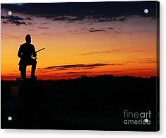 First Pennsylvania Cavalry Sunrise Gettysburg Acrylic Print by Randy Steele