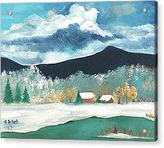First Pennsylvania Snow Acrylic Print