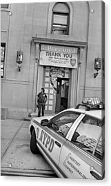 First Precinct Nyc Acrylic Print by Robert Lacy