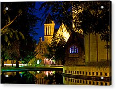 First Presbyterian From Kleinhans Acrylic Print by Don Nieman