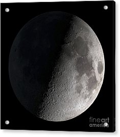 First Quarter Moon Acrylic Print by Stocktrek Images