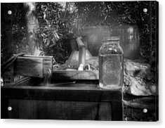 First Run Of Moonshine In Black And White Acrylic Print