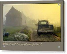 First Run Of The Day, Monhegan Island  Acrylic Print by Dave Higgins