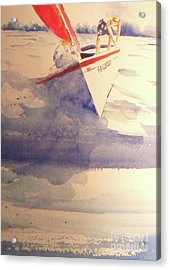 First Sailing Lesson Acrylic Print