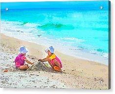 First Sand Castle Acrylic Print