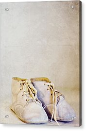 First Shoes - Color Acrylic Print by Rebecca Robinson