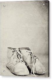 First Shoes Acrylic Print by Rebecca Robinson