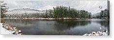 First Snow At Lake Nawahunta Acrylic Print