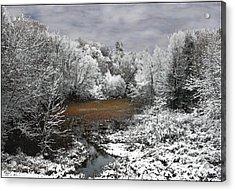 First Snow On An Oxbow Acrylic Print