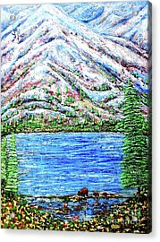 First Snow Acrylic Print by Viktor Lazarev