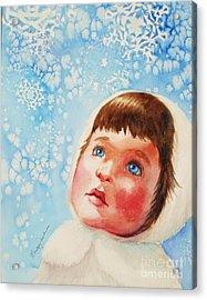 First Snowfall Acrylic Print by Marilyn Jacobson