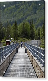 First Steps Down New Roads Acrylic Print by Denise McAllister
