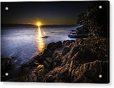 First Rays Over The Adriatic Acrylic Print