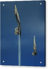 First To The Top Wins Acrylic Print by Aviation Heritage Press