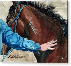 First Touch Acrylic Print by Linda L Martin