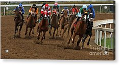 First Turn At Keeneland Acrylic Print by Angela G