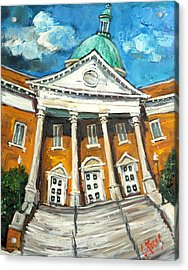 First United Methodist Church Athens Al Acrylic Print by Carole Foret