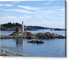 Fisgard Lighthouse Shoreline Acrylic Print