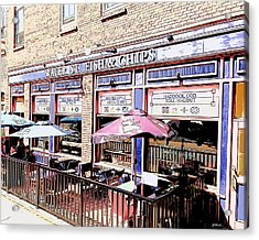 Fish And Chips Acrylic Print by Greg Joens