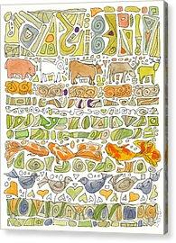 Fish And Fowl Acrylic Print by Linda Kay Thomas