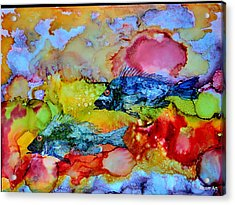 Fish At Sunset Acrylic Print by Brenda Alcorn