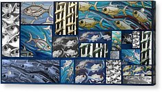 Fish Collage Acrylic Print