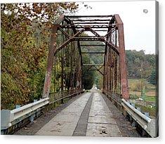 Fish Creek Bridge Acrylic Print by Terry  Wiley