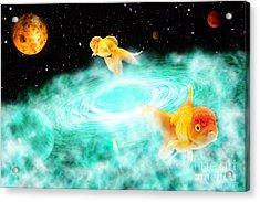 Acrylic Print featuring the digital art Zen Fish Dream by Olga Hamilton