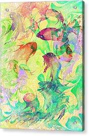 Fish Dreams Acrylic Print by Rachel Christine Nowicki