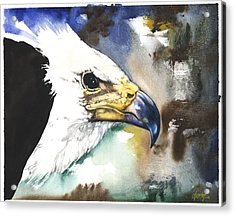 Acrylic Print featuring the mixed media Fish Eagle II by Anthony Burks Sr