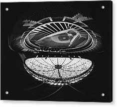 Fish Eye View Of The Astrodome Aka The Acrylic Print by Everett