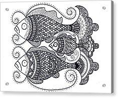 Fish Family Acrylic Print